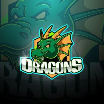 Logotipo de mascote de dragão esport