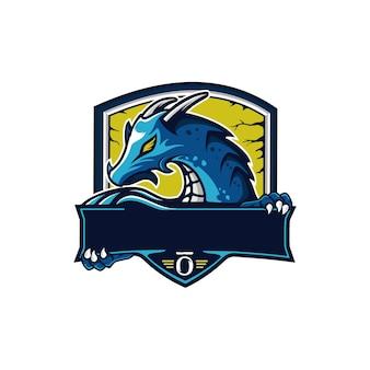 Logotipo de mascote de dragão