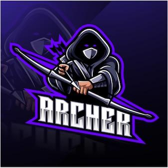 Logotipo de mascote de esporte archer