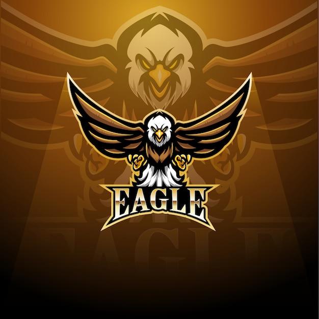 Logotipo de mascote de esporte de águia