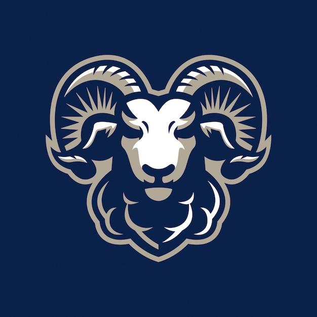 Logotipo de mascote de esporte de cabra