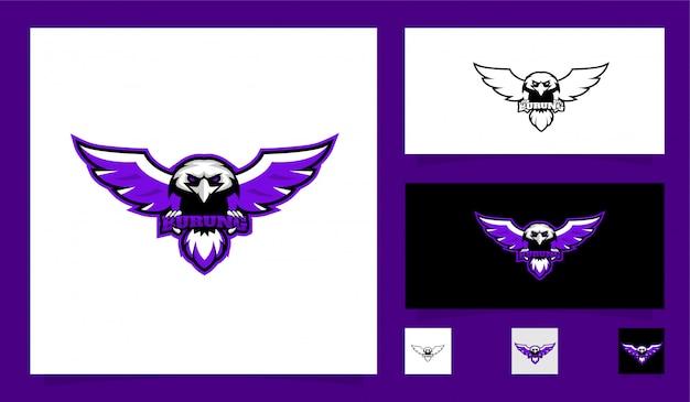 Logotipo de mascote de esporte de falcão