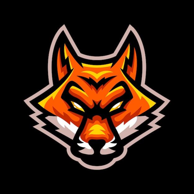 Logotipo de mascote de esporte de raposa