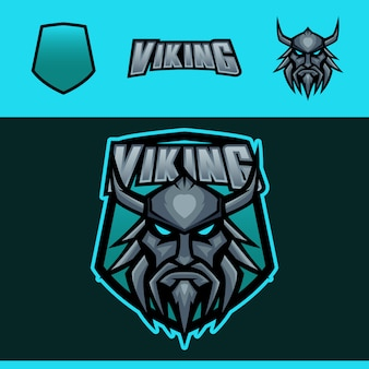 Logotipo de mascote de esportes de viking