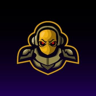 Logotipo de mascote de esquadrão de jogador