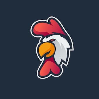 Logotipo de mascote de galo