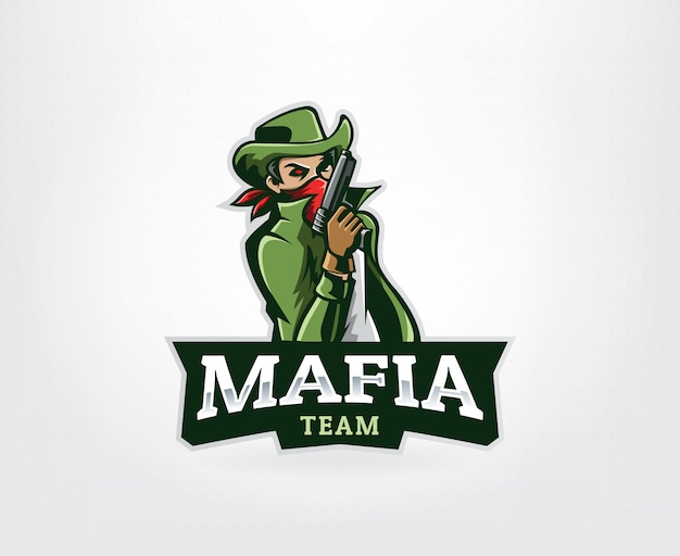Logotipo de mascote de gangster