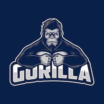 Logotipo de mascote de gorila