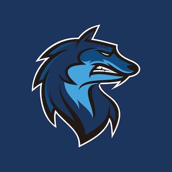 Logotipo de mascote de ilustração de chacal de lobo