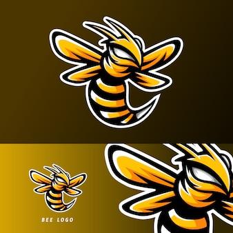 Logotipo de mascote de jogo de esport animal abelha