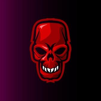 Logotipo de mascote de jogo mal crânio