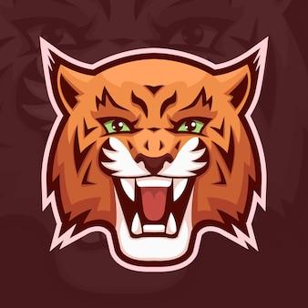 Logotipo de mascote de lince