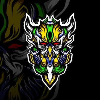 Logotipo de mascote de monstro esport