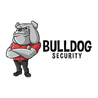 Logotipo de mascote de personagem de bulldog dos desenhos animados