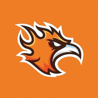 Logotipo de mascote de phoenix