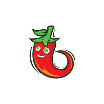 Logotipo de mascote de pimentão