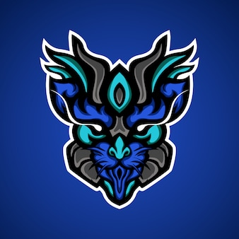 Logotipo de mascote de predator gato esport