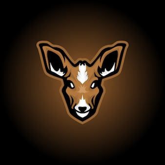 Logotipo de mascote de rena