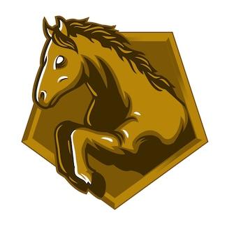 Logotipo de mascote de salto do cavalo