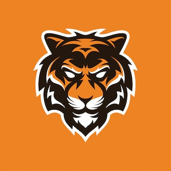Logotipo de mascote de tigre