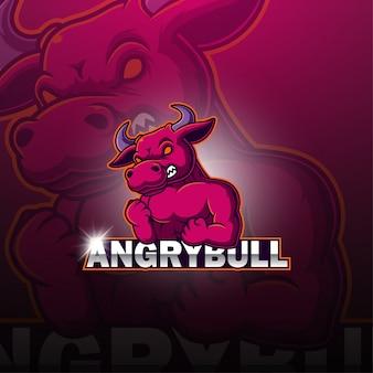 Logotipo de mascote de touros esport