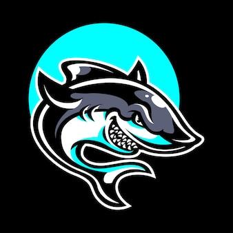 Logotipo de mascote de tubarão