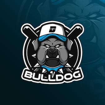 Logotipo de mascote de vetor de cachorro