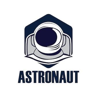 Logotipo de mascote do astronauta.