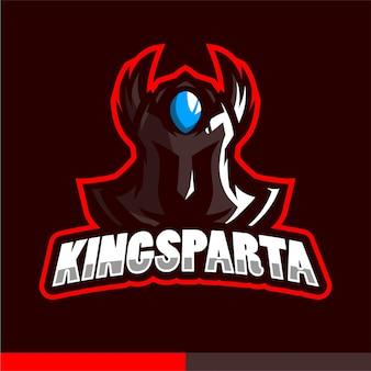 Logotipo de mascote do rei sparta