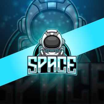 Logotipo de mascote esport astronauta