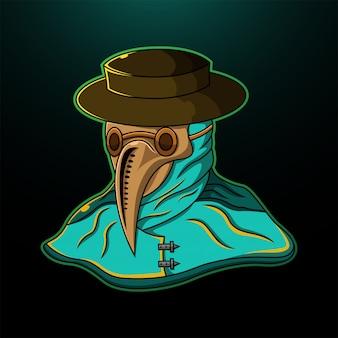 Logotipo de mascote esport cabeça de peste