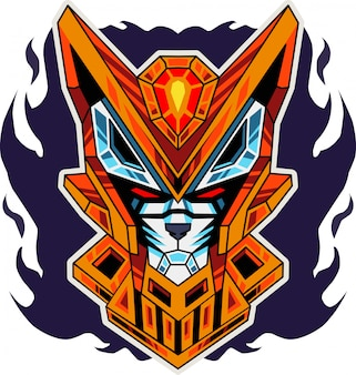 Logotipo de mascote esport cabeça de robô