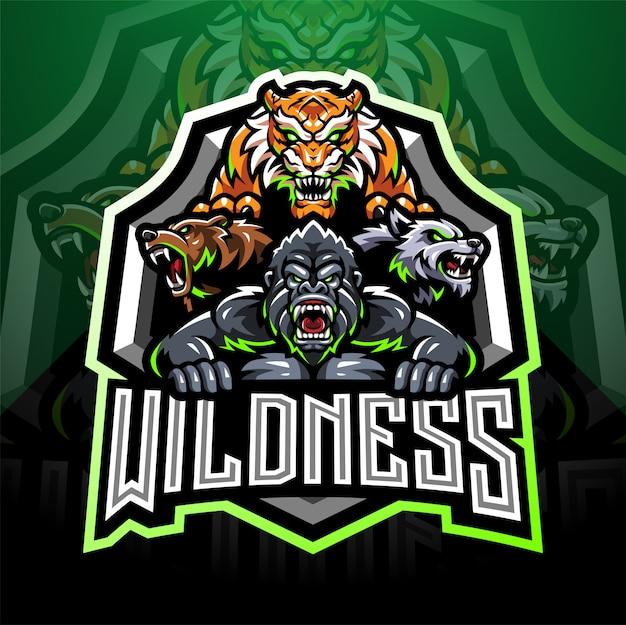 Logotipo de mascote esport de animais selvagens