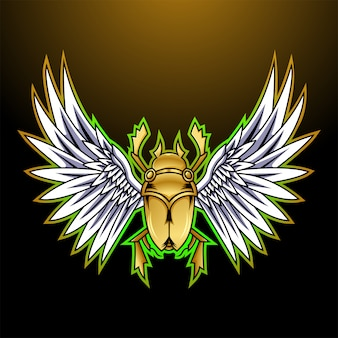 Logotipo de mascote esport escaravelho