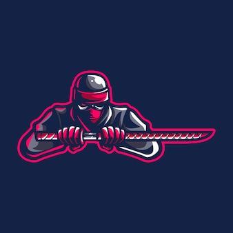 Logotipo de mascote ninja