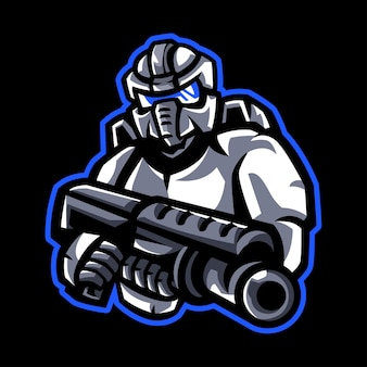 Logotipo de mascote robótico