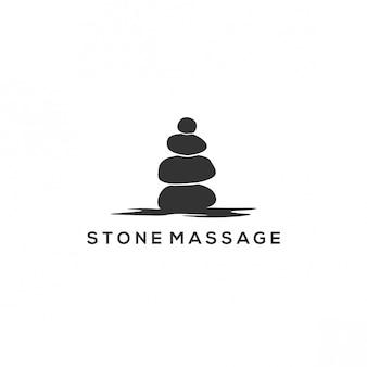 Logotipo de massagem de pedra