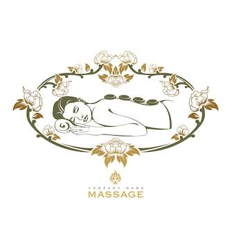 Logotipo de massagem de spa