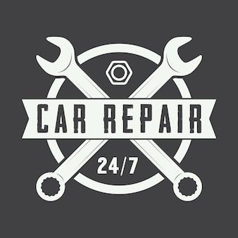 Logotipo de mecânico vintage