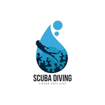 Logotipo de mergulho