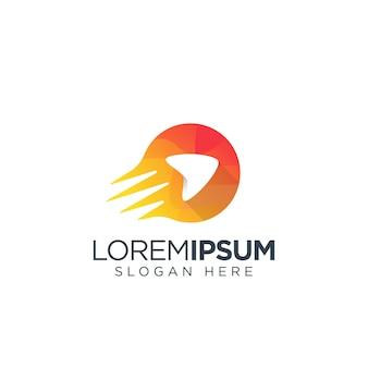 Logotipo de mídia laranja