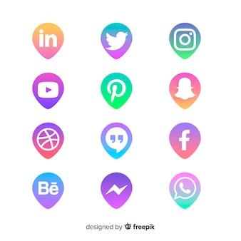 Logotipo de mídia social collectio