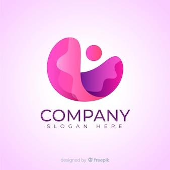 Logotipo de mídia social gradiente rosa