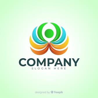 Logotipo de mídia social gradiente