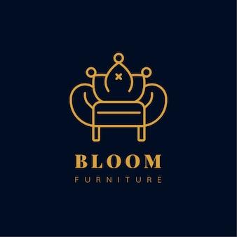 Logotipo de mobiliário de design elegante