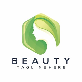 Logotipo de moda beleza, modelo, ilustração
