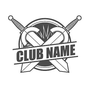 Logotipo de modelo de clube de espada