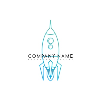 Logotipo de modelo de logotipo de marca de foguete espacial logotipo arte vetorial