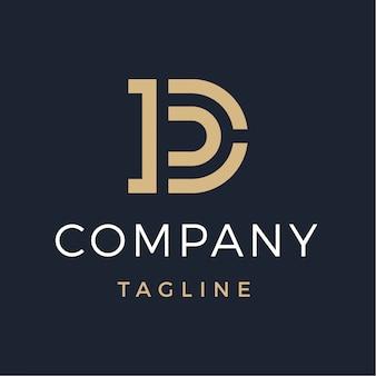 Logotipo de monograma letra d luxo