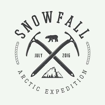 Logotipo de montanhismo ártico